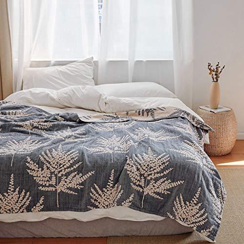 Zhangapn1 ademende lederen handdoek, quilt, puur katoen, vijf lagen, voor eenpersoonsbed, tweepersoonsbed, zomer, smalle deken