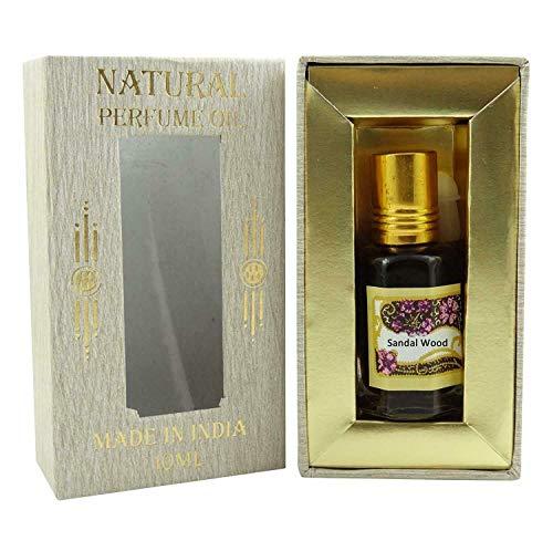 Huile de parfum de santal concentré naturel sans alcool Ittar Attar 10ml - SL