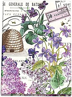 Michel Design Works Sticky Note Folio Set, Large, Lilac and Violets, Lilac & Violets