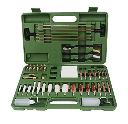 FREETIME Upgraded Version Gun Cleaning Kit Universal Supplies for Hunting Rifle Handgun Shot Gun Cleaning Kit for All Guns with Case (Green)