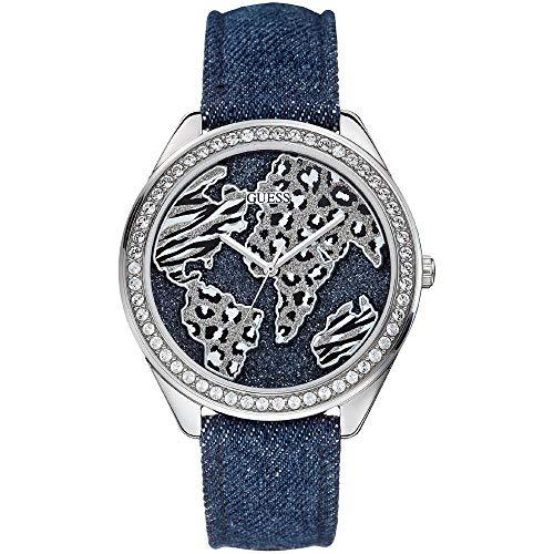 GUESS Reloj de Cuarzo Moda Azul 44 mm