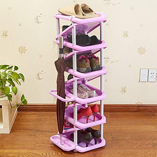 XQYPYL Zapatero el Plastico con 6 Niveles, Organizador de Zapatos, Torre Vertical para el Hogar, Estantes para el Salón, Vestidor y Pasillo,02,32cm*28cm*101cm