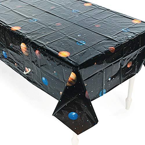 cama24com Weltraum Planeten Tischdecke aus PVC Tischdeko Kindergeburtstag Mottoparty Deko mit Palandi® Sticker
