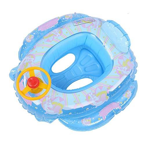 wosume Flotador de natación para niños, Anillo de Piscina Inflable con Caballo Volador, Dibujos Animados encantadores de 85 cm / 33,5 Pulgadas, Entrenamiento Estable y más Seguro para bebés,