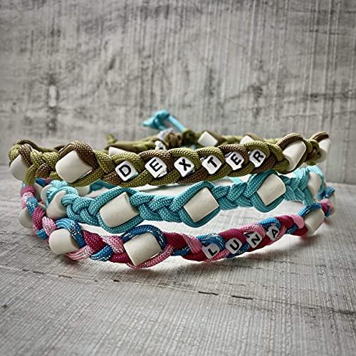 EM Keramik Halsband für Hunde, mit/ohne Name, 59 ver. Farben, Flechten, PetsGlamour