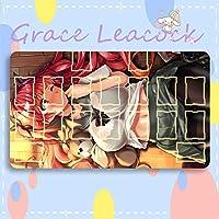 GraceLeacock カードゲームプレイマット 遊戯王 プレイマット Azur Lane アズールレーン Honolulu ホノルル アニメグッズ TCG万能 収納ケース付き アニメ 萌え カード枠あり (60cm * 35cm * 0.3cm)