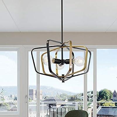 Sputnik Chandelier Lighting Hanging Metal Steel Art Pendant Ceiling Light Fixture by VINLUZ