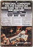 Commodore Computer Blechschilder Vintage Metall Poster