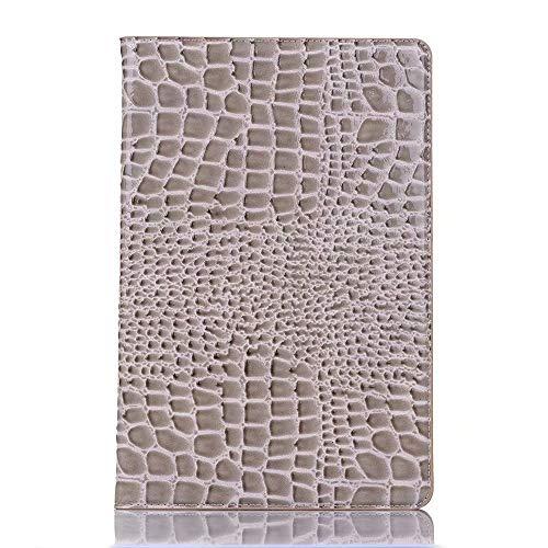 Haiqing Funda para tablet Galaxy Tab S5e de 10,5 pulgadas 2019 SM-T720/SM-T725 de piel de cocodrilo, color gris