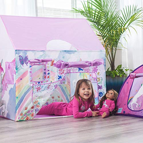 Bluenido Unicorn Playhouse Princess Tent for Girls with Carrying Case 40