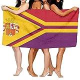 huibe Bandera de la Segunda República Española de Vanuatu Toallas de Playa Sábanas de baño de poliéster de Secado rápido,Toallas Frescas de Verano para Piscina Grande 80x130 cm