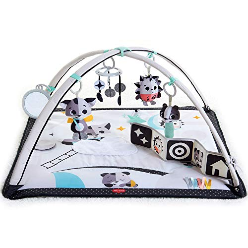 Tiny Love Gymini Tapis d'éveil Bébé Musical, Design, Collection Black & White, Dès la naissance, 0m +, 93 x 85 x 49 cm