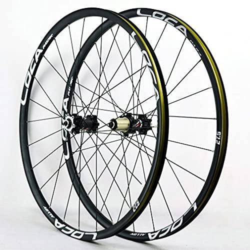 RUJIXU - Set di ruote per mountain bike, 26/27,5/29', ruota anteriore in lega di alluminio, ruota per freno a disco QR per 8-12 velocità, 1705 g, colore: argento, dimensioni: 26 cm
