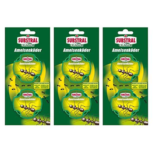 3 x 2 (6 Stk) Celaflor Ameisen-Köder-Dose Ameisenmittel Bekämpfung