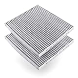 Amazon Basics Cabin air filter (2-pack, gray) works with a vehicle's ventilation system to create cleaner inside air. Measures 10 by 8.9 by 0.79 inches