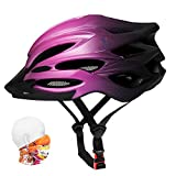Premium Adult Bike Helmet Gradient Color with Visor,Headwear,Insect Net,Cycling Bicycle Helmet Lightweight Youth