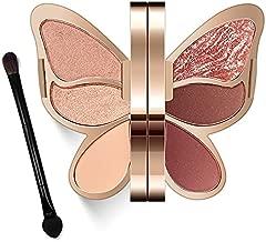Erinde Butterfly Eyeshadow Palette Makeup, Matte Shimmer Metallic Eye Makeup Palette, Highly Pigmented, Naturing-Looking, Blendable Long Lasting Waterproof Eye Shadow Palette, Travel Size Makeup Set A