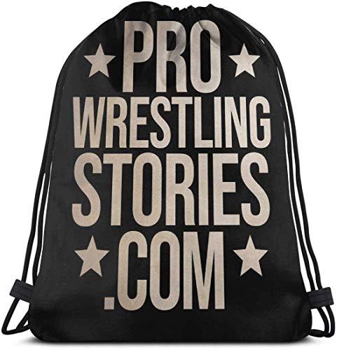 NA School Daypacks Drawstring Backpack Pro Wrestling Stories Canvas Bulk Sackpack for Men Women String Sports Gym Bag
