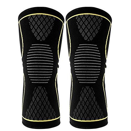 Knie Sleeve Ondersteuning Beschermer Sport Kneepad Fitness Hardlopen Fietsen Braces Hoge Elastische Gym Knie Pad Warm 2 stks