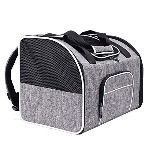 Haustier Rucksack Katzen-Tasche Out Mini Großer Fressnapf Rucksack heraus Schulter-Beutel-beweglicher Breath 20 kg Reise Hund Rucksack (grau)