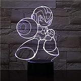 Lámpara de mesa de ilusión 3D, 16 colores cambiantes luz nocturna con control...