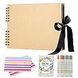Album de Fotos Scrapbook, (80 Páginas) con 12 Metalic Marker Pens, DIY...