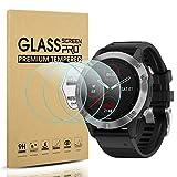 Suoman 3-Pack for Garmin Fenix 6 Screen Protector Tempered Glass for Garmin Fenix 6/6 Pro / 6 Sapphire / 6 Pro Solar, [Anti-Scratch] (Do Not Fit for Fenix 6S/6X)