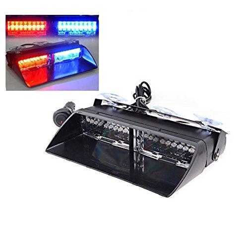 Pare-Brise à 16 LED Rouges et Bleues Haichen pour la Signalisation d'Urgence à Lumières Clignotantes