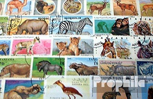 Prophila Collection Afrika 100 Verschiedene Afrikanische Tiere Briefmarken (Briefmarken für Sammler) Säuger Sonstige