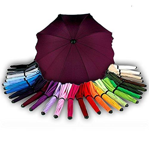 BAMBINIWELT Sonnenschirm für Kinderwagen Ø68cm UV-Schutz50+ Schirm Sonnensegel Sonnenschutz (Kirsche)