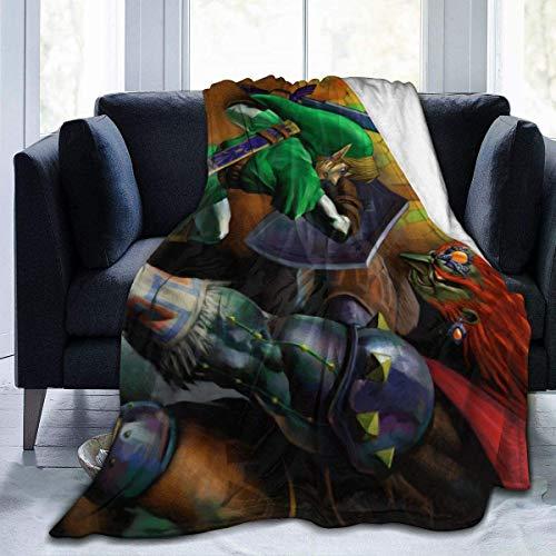 Ganondorf Ocarina of Time Ultra-made in UK Micro-Fleece-Decke, Überwurf, super hergestellt in Großbritannien, Anti-Pilling, leicht, Sofa, Plüsch, Bett, Couch, Wohnzimmer
