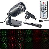 Lunartec Laserstrahler Outdoor: Motiv-Laser-Projektor mit 6 Muster, Timer, Fernbedienung, IP65 (Laser Projektor Outdoor)