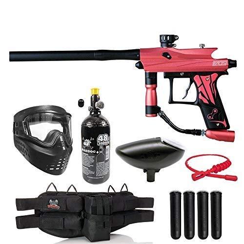 Maddog Azodin KAOS 3 Silver HPA Paintball Gun Marker Starter Package - Pink/Black