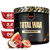 Redcon1 - Total War - Preworkout - All New (15 Servings) Boost Energy, Increased Lasting Endurance, Citrulline Malate, Beta-Alanine, Keto Friendly, (Tigers Blood)