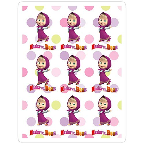 BreathNenStore Masha and The Bear masha and The Bear Stickers (3 Pcs/Pack) 6942520905660