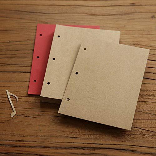 EDCV Album Covers 28 Vellen Losbladige DIY Fotoalbum Scarpbook Voor Reizen Trouwalbums Foto, papier-kraft-28 vellen