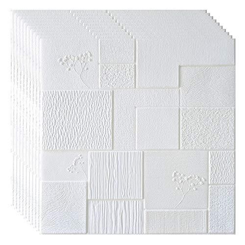 CAOXN 3D Wandpaneele Faux Gefälschte Brick Wandaufkleber, DIY Wasserdichtes Selbstklebende Tapete Für Kinder Wohnzimmer Schlafzimmer Küche TV Kulisse Dekor,Type6,10Pcs