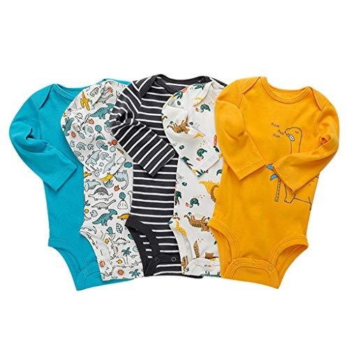 Paquete de 5 Bebé Body De Manga Larga Niños Mameluco Camisetas Paquete...