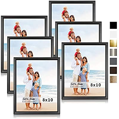 LaVie Home Picture Frames (6 Pack) Simple Designed Photo Frame with High Definition Glass for Wall Mount & Table Top Display, Set of 6 Classic Collection