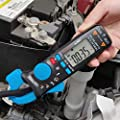 Bside ACM91 1mA Clamp Meter DC/AC Current True RMS Auto-Ranging 6000 Counts Multimeter Live Check V-Alert Temperature Capacitance Frequency Tester with Back Clip