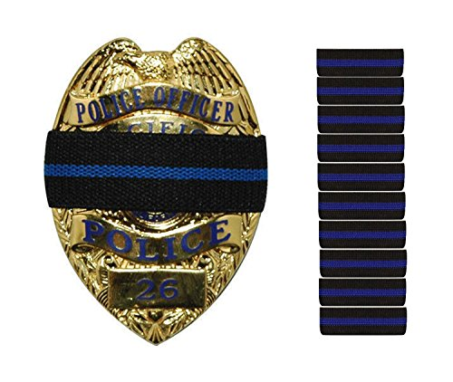 Thin Blue Line Stripe Black Police Officer Badge Shield Funeral Honor Guard Mourning Band Strap 3/4 by Uniform World