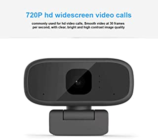 s61Ylu 720P Webcam HD Online Course Camera Live Broadcast Built-in Sound Absorption Noise Reduction Microphone Black