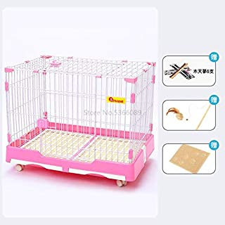 CXBH Cat Cage Extra Large Villa Indoor Household House Double Three-Layer Pet Small Fence with Toilet Supplies (Color : Purple)