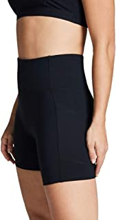 Rockwear Activewear Women's Mid Thigh Pocket Tight Black 14 from Size 4-18 for Mid Thigh Shorts Ultra High Bottoms Legging...