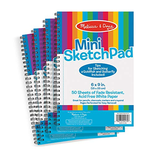 Melissa & Doug Mini-Sketch Pad Bundle (4 Pack)