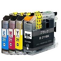LC211 (顔料BK/C/M/Y)【4色セット】ブラザー用 プレミアム純互換インクカートリッジ 残量表示対応 最新ICチップ【楽とく商品一年保証】対応機種: DCP-J968N / DCP-J963N / DCP-J767N / DCP-J762N / DCP-J567N / DCP-J562N / MFC-J887N / MFC-J880N / MFC-J997 / MFC-J990 / MFC-J907 / MFC-J900 / MFC-J837 / MFC-J830 / MFC-J737 / MFC-J730 Morishop製