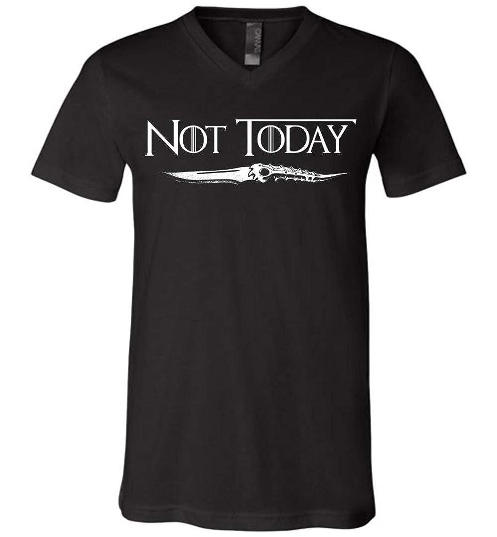Not Today Arya Stark Game of Thrones GOT Canvas Unisex V-Neck T-Shirt for Women Men Fans Gift