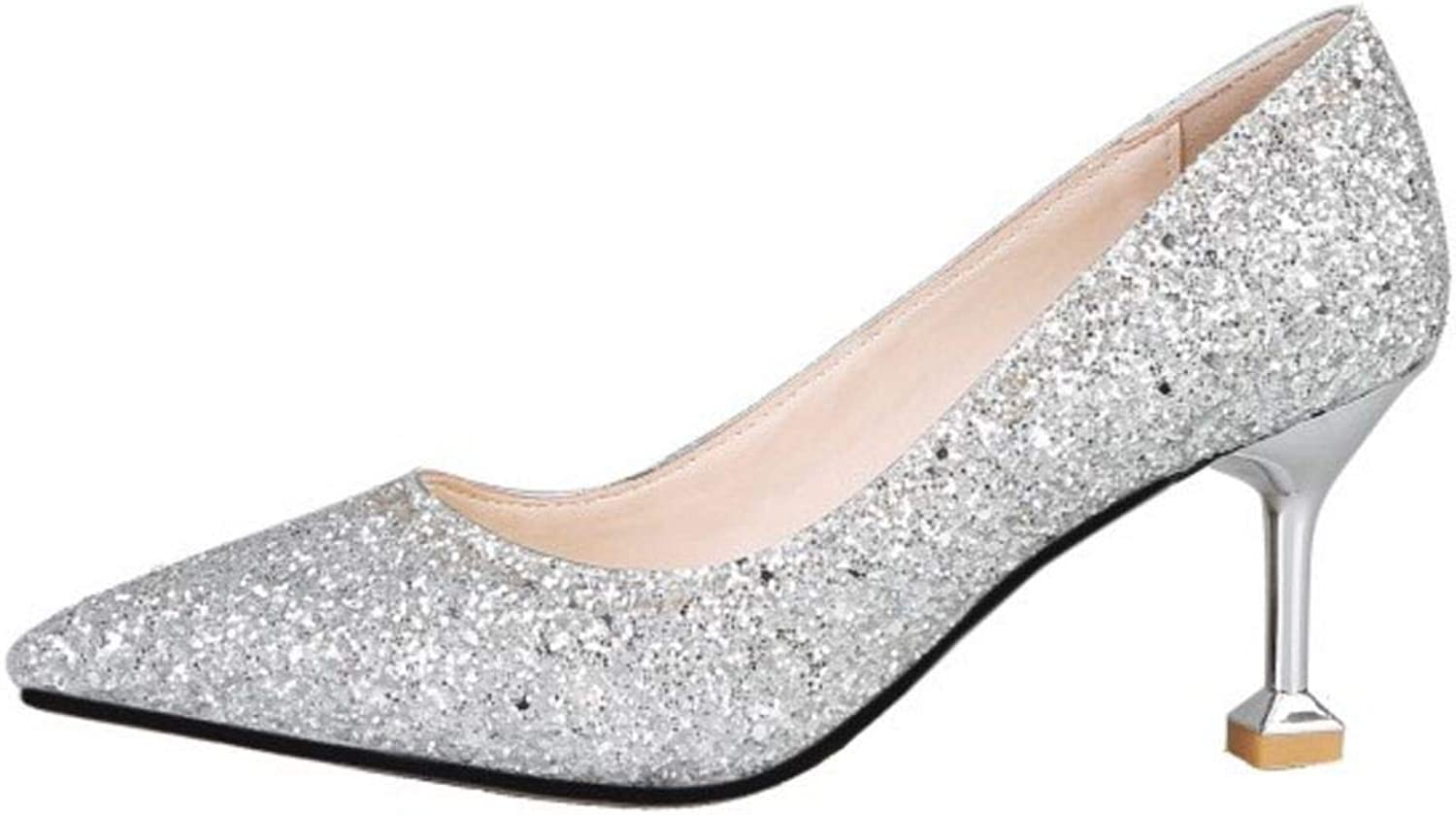 KemeKiss Women Bridal Pumps Glitter