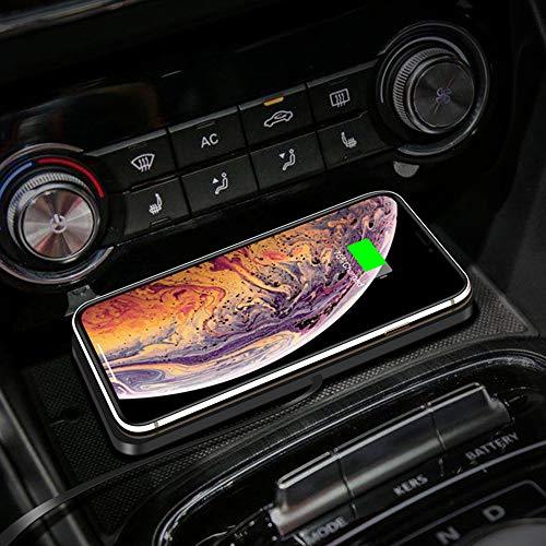 TWH Cargador de teléfono móvil inalámbrico para coche, almohadilla de carga inalámbrica, almohadilla de carga inalámbrica, cargador de coche antideslizante, soporte de carga de coche