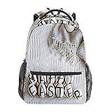 Zaino Scuola Felice Uova di Pasqua con Iscrizione Casual Viaggio Laptop Daypack Tela Borse Libro per Donna Ragazze Ragazzi Studente Adulto Uomini